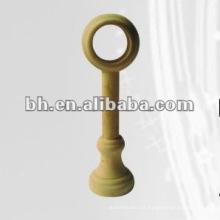 Cor natural único suporte de madeira da cortina da tubulação para a decoração home