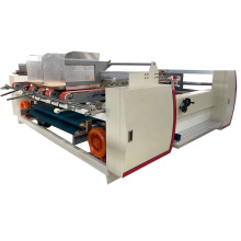 High quality double pics semi automatic carton box folder glue machinery / carton folder gluer machine