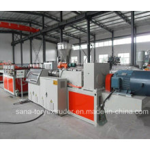 Plastic PVC WPC Crust Celuke Foaming Sheet Extruder Machinery