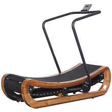 Gym Machine Wooden Curve Manual Unpowered Treadmill