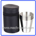 Stainless Steel Wine Cup, Hip Flask Sets (R-HF010)