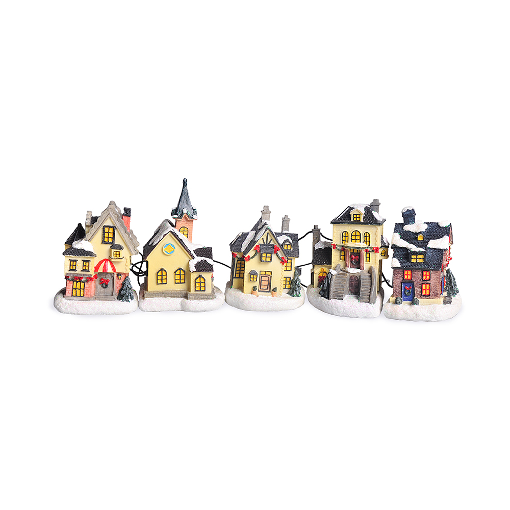 Wire Cottages 5 Pcs