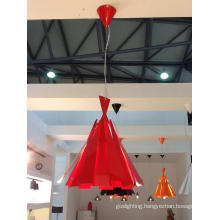 Modern Red Carbon Steel Pendant Lamp (2200S)