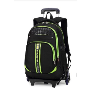 School Bag Backpack with Wheeled Trolley Hand