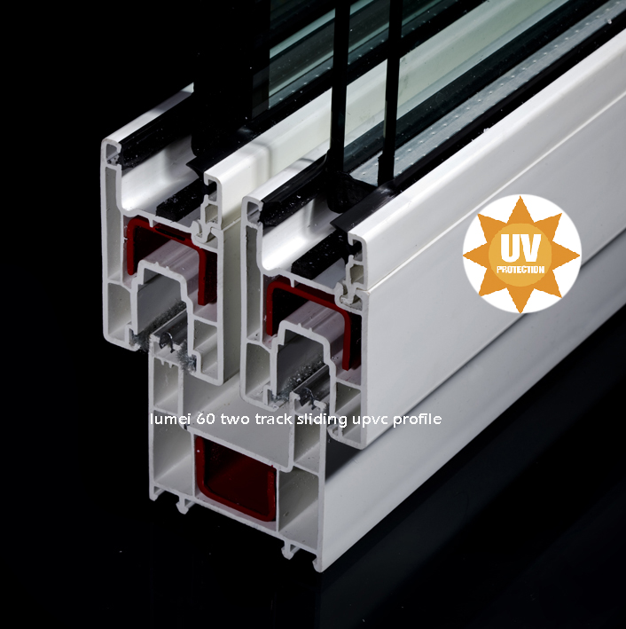 60mm Two Track Sliding Upvc Frame