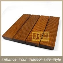 Interlocking tile Flooring tile Merbau Wood tile with PE base
