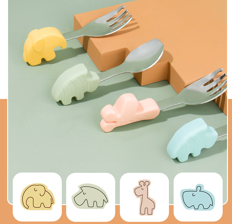 Silicone Baby Spoon Utensils