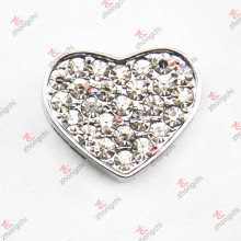 10mm cristal coração slide charme para pulseira (JP10)