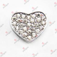 10мм хрустальный сердечный слайд-шарм для браслета (JP10)
