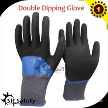 SRSAFETY 13G Knit Nylon Coated Double nitrile gloves