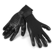 TE001 Haustier-Haar-Entferner-Badebürste-Werkzeug, schwarze Paar-Hundesorgfalt-Handschuhe für Katzen-Hund
