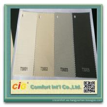 30% poliéster 70% PVC Persianas de protección solar Fabirc persianas tela de la pantalla