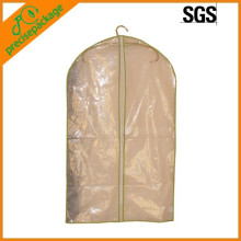 Recycle clear plastic garment bag with zipper