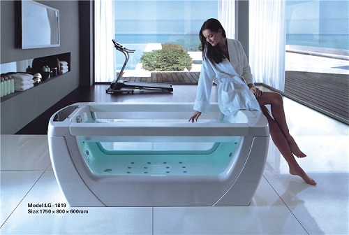 2 person hydromassage bathtub