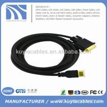 Plaque d'or 6FT Câble HDMI vers VGA 1080p 1.8M KY-HVW015G
