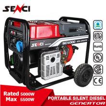 5kw CE certificado pequeño generador diesel silencioso generador diesel