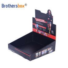 Customized printed art paper cardboard retail top counter display box carton