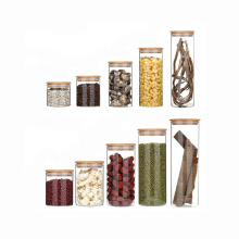 spice food airtight glass storage jars with bamboo lid BJ-428A
