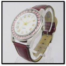 Alloy Case Leather Strap Gift Watch