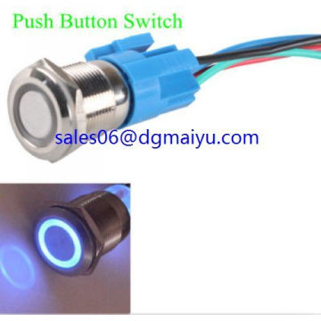 19mm 12V Car Blue LED Light Angel Switch