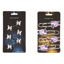 Fancy design soft pvc paper clip set