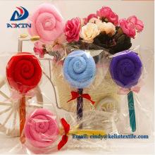 Lollipop shape wholesale cake towel gifts