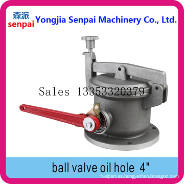 Válvula de bola de agujero de medición antirrobo