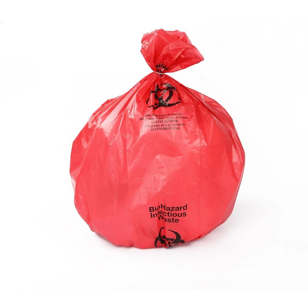 Disposable Custom Medical Biohazard Waste Bag RED