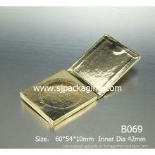 Papel verde papel de embalaje cosmético sombreador de ojos papel de caja papel de polvo suelto papel compacto polvo