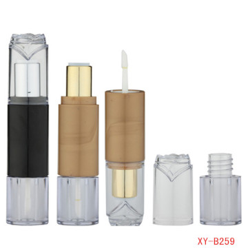 Beautiful Double Head Lipstick And Lip Gloss Tube