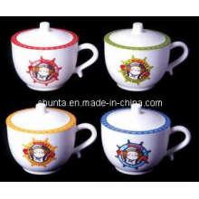 100% Melamine Kid′s Tableware -Cup with Cover /High-Grade Melamine Tableware (BG630S)