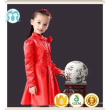 kids clothes girls dress chinese button style dress new year birthday dress