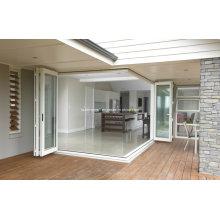 Максимальная открытость Жилая рамка Складные алюминиевые двери
