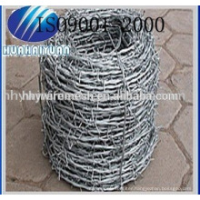 hot dipped G.I barbed wire mesh fence