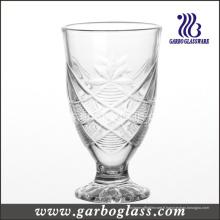 Coupe en verre gravé sur pied (GB040706HT)