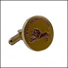 2014 Horse Engraved Logo on Metal Cufflink (GZHY-XK-017)
