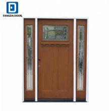 Frontal de la casa Fangda utiliza puertas exteriores de fibra de vidrio para la venta con bisagra de puerta
