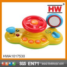 Engraçado plástico operado bateria musical e luz crianças brinquedo volante
