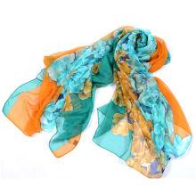 Écharpe en mousseline de soie à la mode pour femme