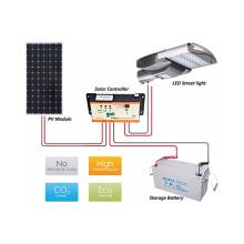 Le meilleur vendeur a mené le CE ROHS de fabricant solaire de réverbère certifiés liste de prix alimentée solaire de 65w LED