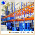 Estante retráctil de acero ajustable doble almacén profundo