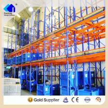 Adjustable Double Deep Warehouse Steel Push Back Rack