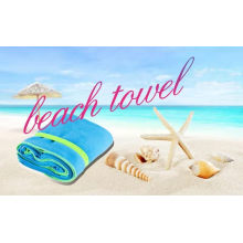 Soft and Absorbent Yoga Mat Towel, Double Printed Marine Yoga Towel, Microfiber Fitness Gym Towel