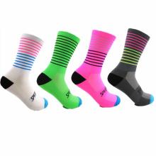 colorful striped crew sport socks athletic gym unisex cycling socks
