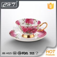 Durable Qualität Porzellan elegante Milch Teetassen und Untertasse