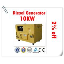 ¡Fábrica confiable del generador del 100%! ! Generador Diesel Silencioso 10kw