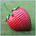 Outdoor Fruit Große Fiberglas Strawberry Statue