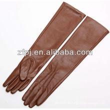 2016 guantes de cuero de brazo largo con estilo nuevo