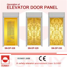 Painel da porta de aço inoxidável gravura a água forte para a decoração da cabine do elevador (SN-DP-328)