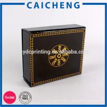 Or emboutissant la boîte cadeau de fermeture magnétique de logo de l'usine chinoise